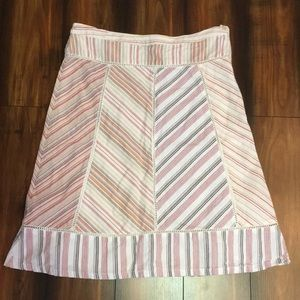 Anthropologie striped Ipsa skirt